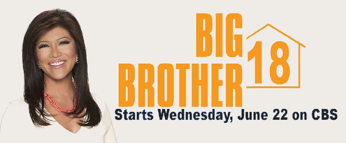 Big Brother 18 starts Wednesday June 22 - Morty's TV